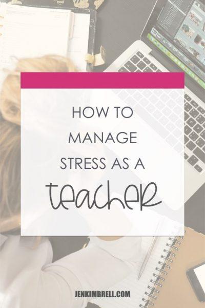 manage stress as a teacher stressed teacher at computer
