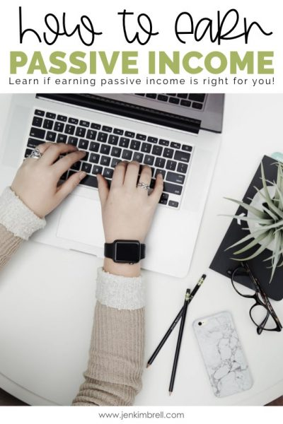woman on computer learning how to earn passive income