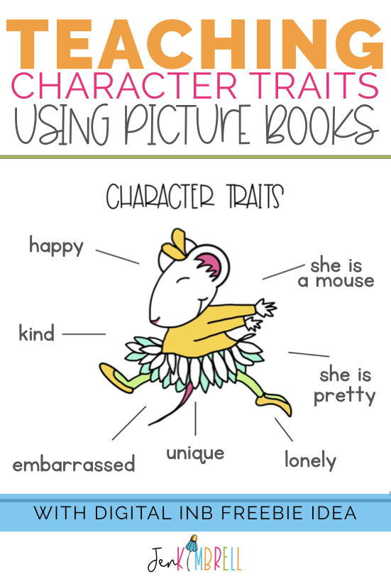 Teaching character traits using picture books anchor chart Chrysanthemum