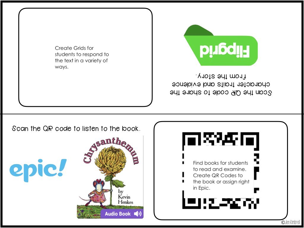 Teach character traits using pictures books in Get Epic and Flipgrid