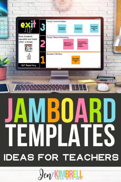 Jamboard templates on desktop computer